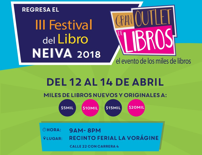 Tercera Feria Outlet de libros en Neiva